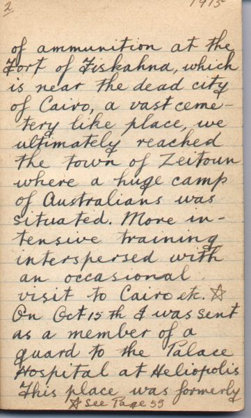 War Diary Page 2 of Frank S. Coats